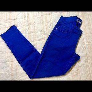 👖Cobalt-Rockstar Super Skinny Jeans